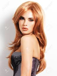 Red Hair Style beautiful woman with long straight red hair fashion model over 5838 by stevesalt.us