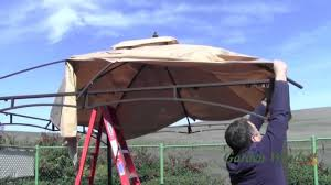 how to install a lowe s allen roth 10x12 gazebo canopy garden winds