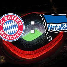 In der ersten runde treffen auch borussia dortmund mit trainer marco rose und eintracht frankfurt mit coach oliver glasner aufeinander. Fc Bayern Munchen Gegen Hertha Bsc Bundesliga Im Live Ticker Fc Bayern