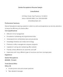 resume front desk cal receptionist resume office job description