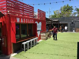 waffle love is one of 10 eateries and bars in the steelcraft project in long beach a similar larger project is planned for euclid street in garden grove