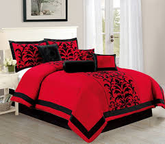 empire home dawn 10 piece comforter set over sized bed in a bag queen size red black new arrival 50 com