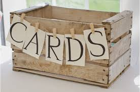 33 cards wooden crate rustic