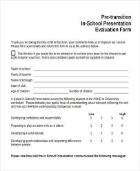 Powerpoint Presentation Evaluation Form 29 Printable Presentation Evaluation Forms