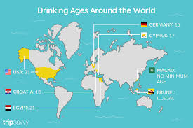 The Drinking Alcohol World Legal Ages Around