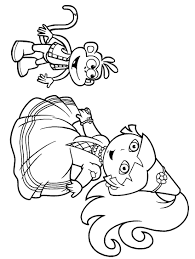 cool princess dora the explorer coloring pages and monkey ...