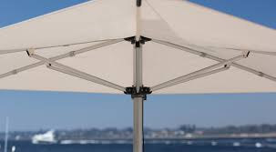 fabric patio umbrella aluminum stainless steel polyolefin f 220