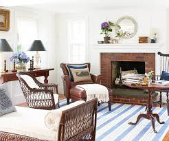 blue living room designs. A White And Brown Living Room With Small Blue Designs