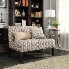 Furniture: Distinctive Mocha Wavy Stripe Armless Loveseat By Inspire Q -  Armless Loveseat Canada