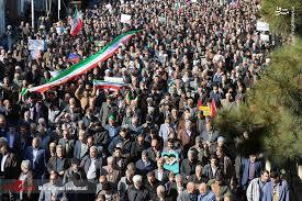 Image result for مردم پای انقلاب ایستادهاند دولت در زمین دشمن بازی نکند
