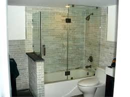frameless glass bathtub doors hinged