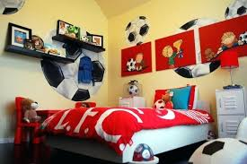 Fabulous Soccer Decor For Bedroom Example Of A Classic Boy Kids Bedroom  Design In With Yellow