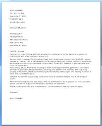 Awesome Collection Of Cover Letter For Veterinary Technician