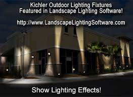 outdoor lighting effects. kichler lighting fixtures are shown with effects outdoor