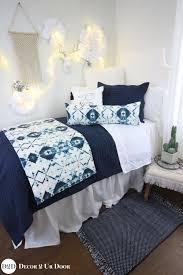 designer white navy blue ombre bedding set
