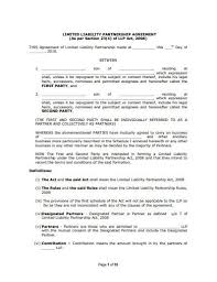 In accordance with the terms, conditions, and covenants of this agreement, the partners shall 10 Limited Liability Partnership Agreement Templates In Doc Pdf Free Premium Templates