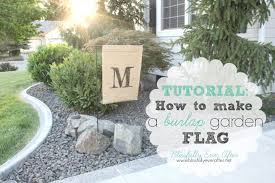 how to make a garden flag at net diy ideas