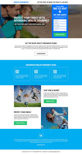 affordable health insurance quote responsive landing page design