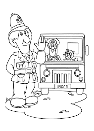 Postman Pat In Truck Coloring Pages