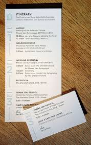 Event Itinerary Template Classy This Itinerary Card Perforates Into Business Size Cards For The