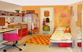 Small Simple Bedroom Kids Room Chic Kids Room Accents Ideas With Dotted Orange Rug