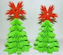 Модульное оригами новогодней елки