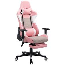 com giantex gaming chair racing chair mesh high back reclining lumbar support headrest and footrest office swivel computer task desk gaming chair