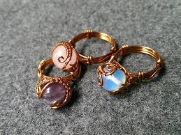 tutorial rings with spherical stones how to make wire jewelry 122