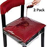 homemaxs chair protector waterproof pvc dining chair covers removable pack of 2