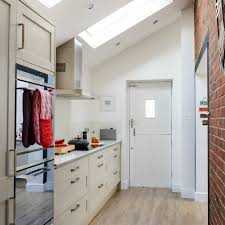 side return kitchen extensions and single galley designs are a perfect recipe as the small space can be optimised for storage and light