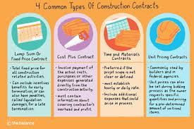 4 Common Types Of Construction Contracts