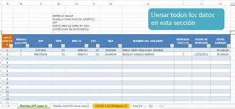 Modelo Blog Bolivia De Afp Aportes - Planilla Impuestos