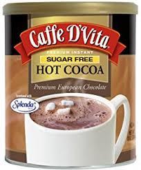 caffe d vita sugar free hot cocoa 10 ounce can