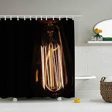 shunshunfeng fabric lamp lighting light dark shower curtain spa hotel luxury heavy duty water repellent 79