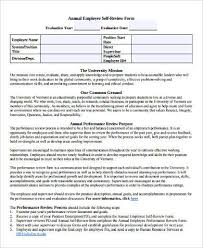Review Examples For Employees 8 Self Performance Review Examples Doc Pdf