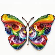 Quilling Home Decor Quilled Paper Art Colourful Butterfly Handmade Artwork