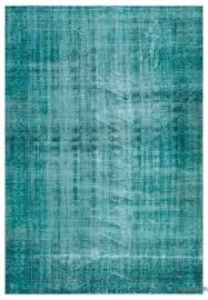 Green Overdyed Rug Turquoise Over Dyed Vintage Wool Dark