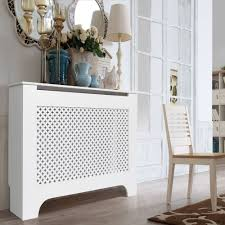 Richmond Medium White Painted Radiator Cover Departments Diy