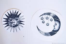 солнце и лунаэскиз тату купить в интернет магазине на ярмарке мастеров с
