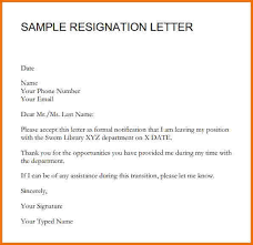 Best Ideas of Simple Sample Resignation Letter Malaysia Template Sample
