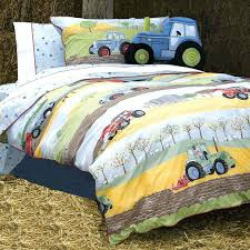 tractor bedding set field days farm themed boys toddler bedding set in cotton tractor crib bedding