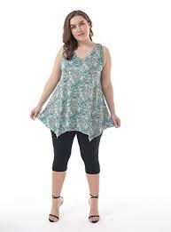 Zerdocean Size Chart Zerdocean Womens Plus Size Printed Flowy Tank Tops Summer Sleeveless Tunic 009 3x