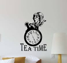 Amazoncom Tea Time Mad Hatter Wall Decal Alice In Wonderland Walt