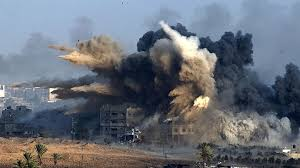 Image result for destroyed buildings war war explosions