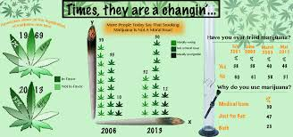infographic changes in views of marijuana legalization over time  marijana infographic