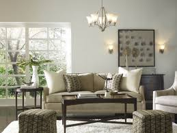 Cheerful Living Room With Simple Painting Decor Above Soft Grey - Simple living room ideas