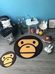bape head decor bath area rug carpet door mat bathing bedroom home floor door