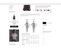 Shopify Size Chart Brooklynk Responsive Fashion Shopify Template Sections