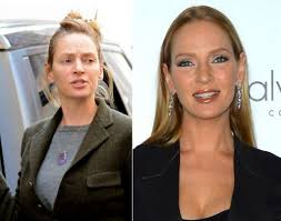 uma thurman looking beautiful with or without makeup