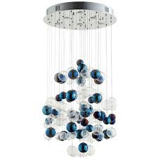 cyan design champagne circus 24 wide chrome pendant light 1 773 liked on polyvore featuring home lighting ceiling lights blue blue ceiling lights